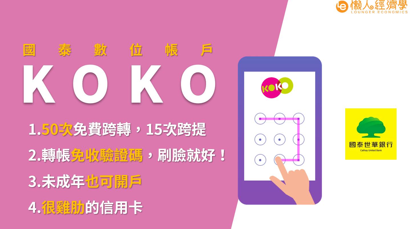 KOKO數位帳戶介紹