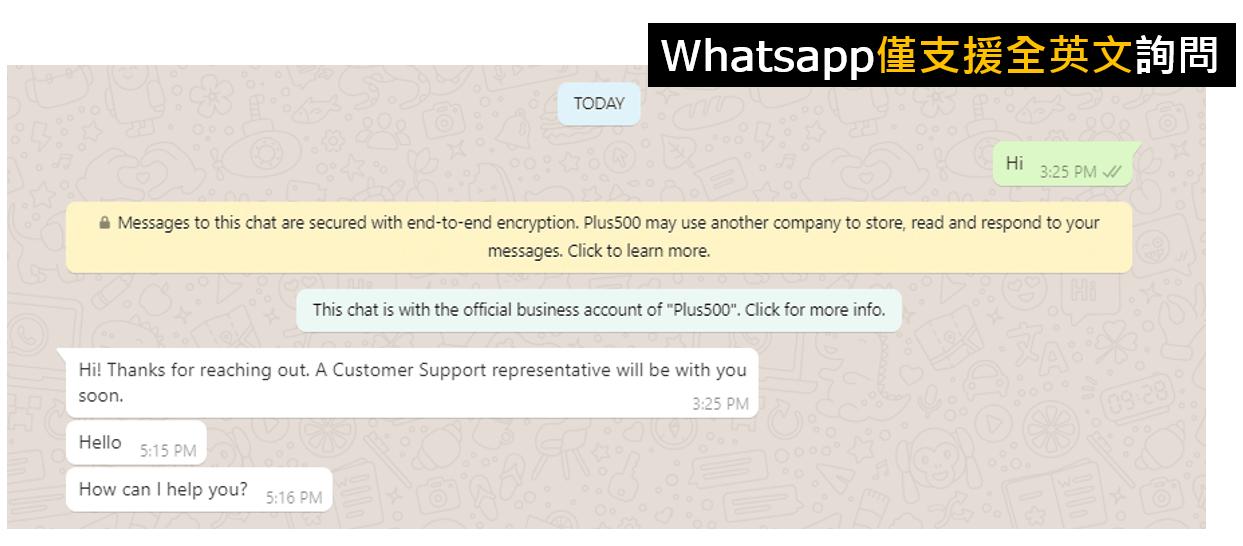 Plus500 Whatsapp