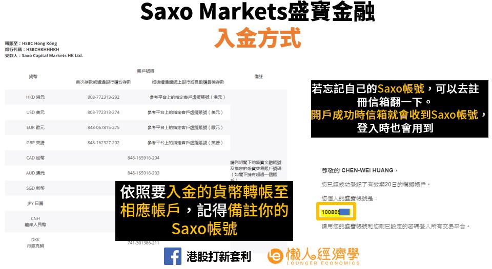 SaxoBank入金教學