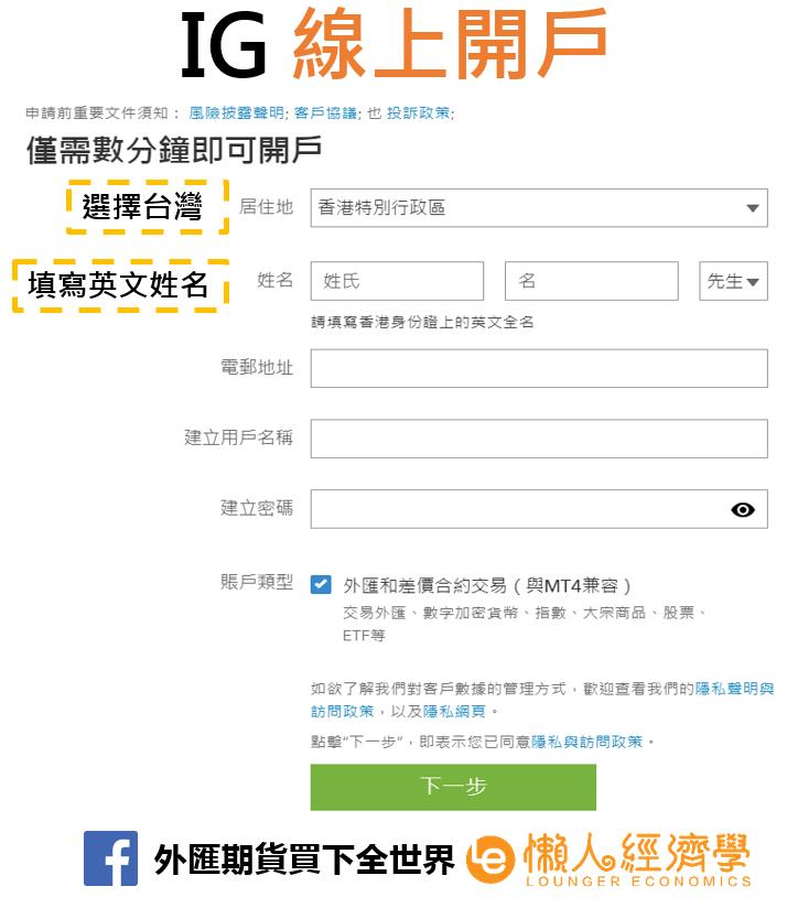IG線上開戶