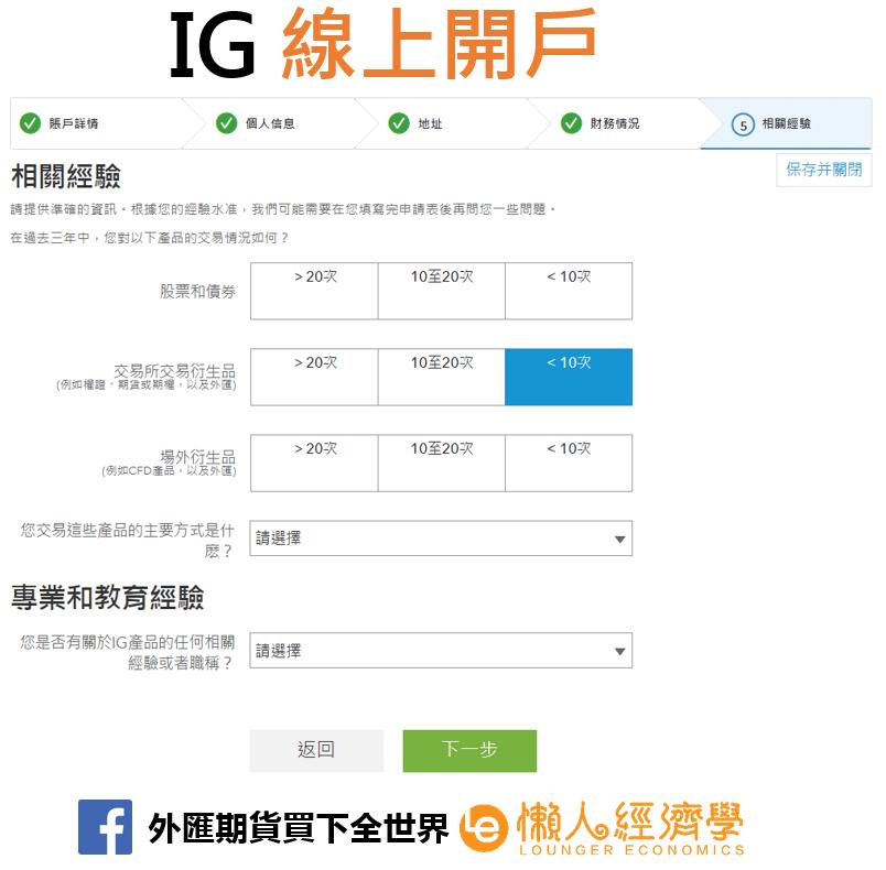 IG Markets線上開戶2