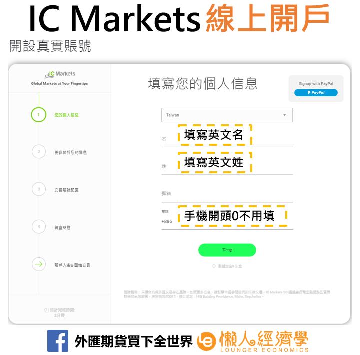 IC Markets線上開戶