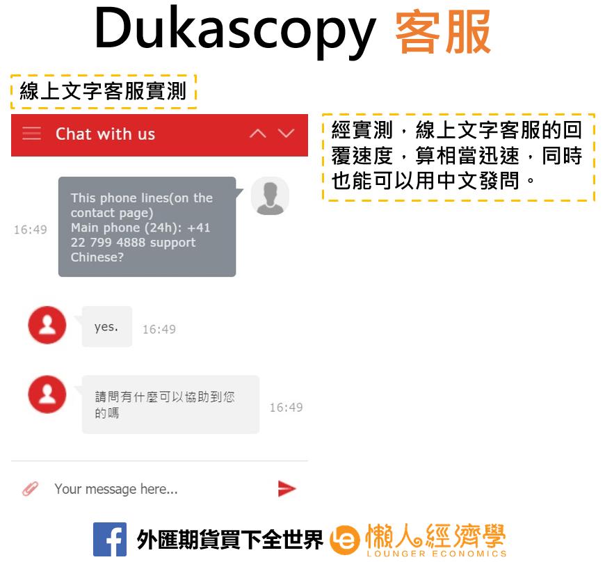 Dukascopy客服