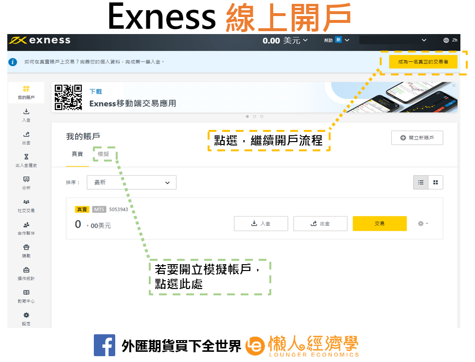 Exness線上開戶2
