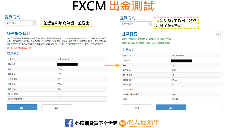 FXCM出金實測3