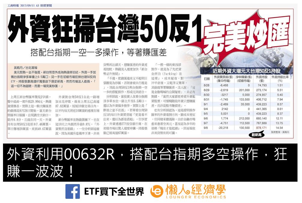 元大台灣50反一