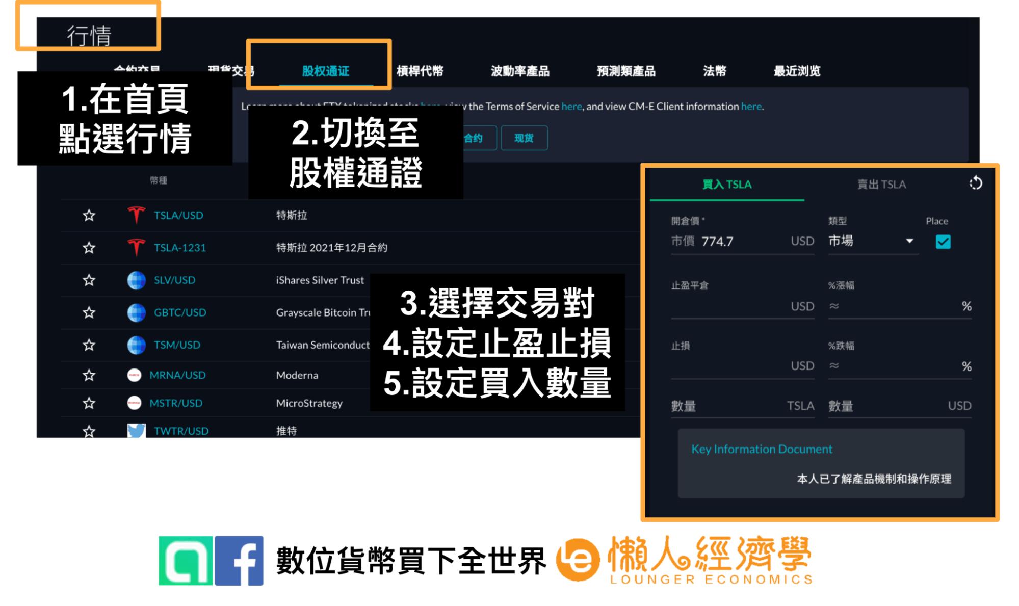 FTX交易:股權通證下單教學