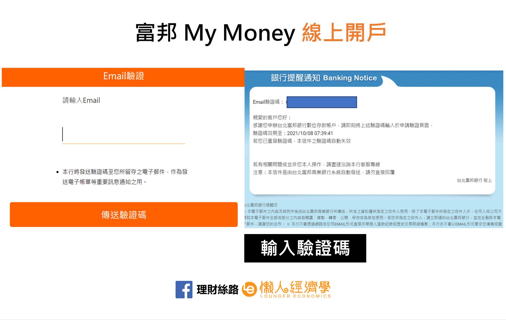 輸入Email驗證碼