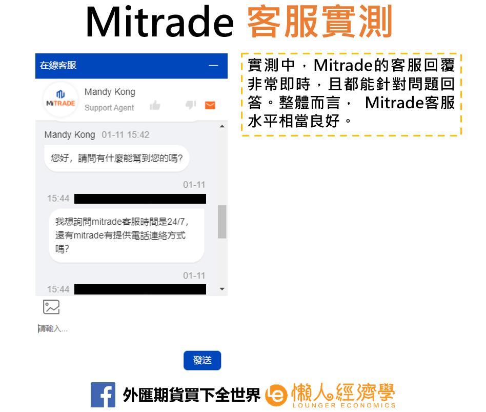 mitrade客服實測