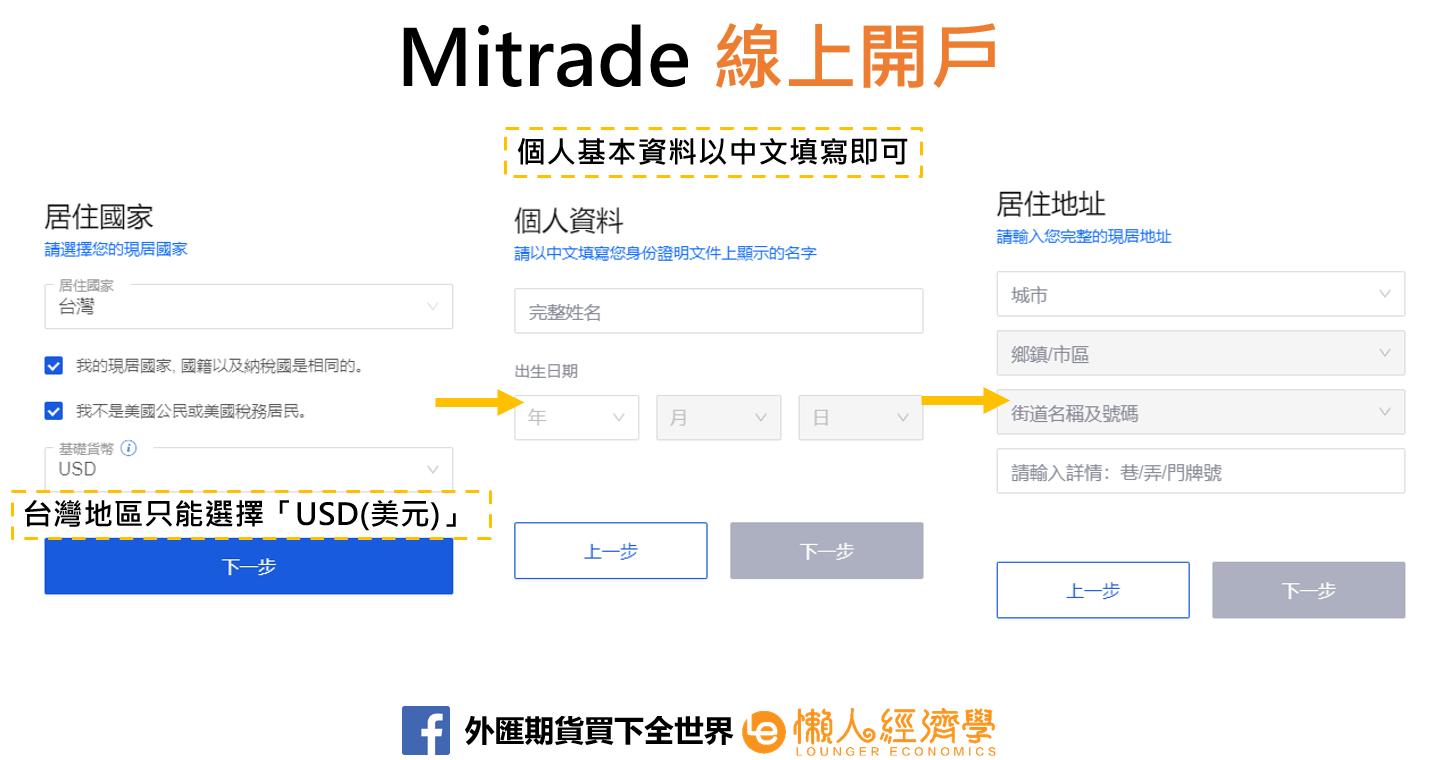 mitrade線上開戶3
