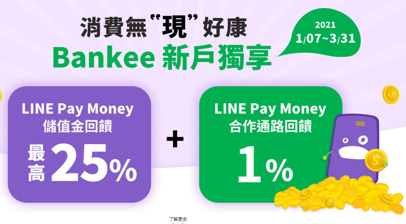 Bankee數位帳戶Line Pay Money活動
