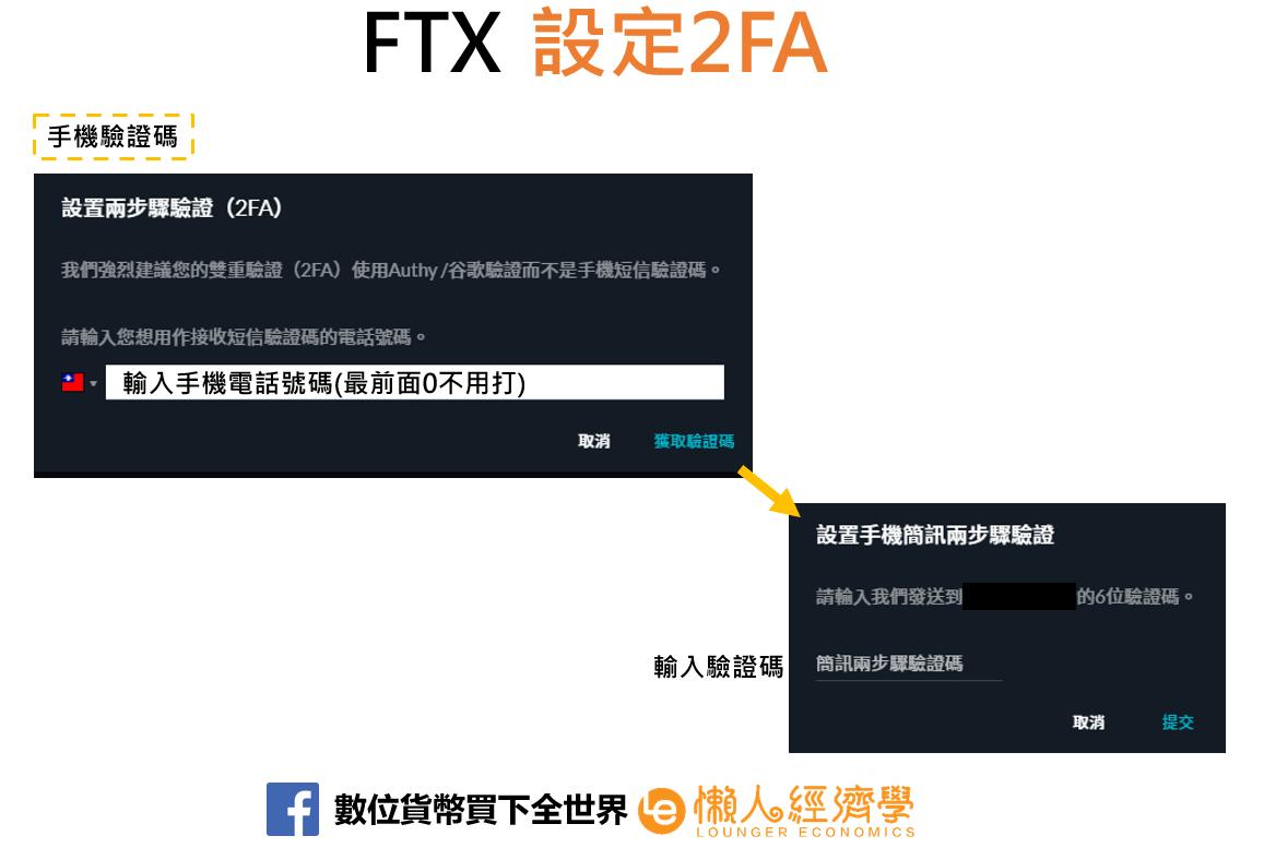 FTX手機簡訊驗證