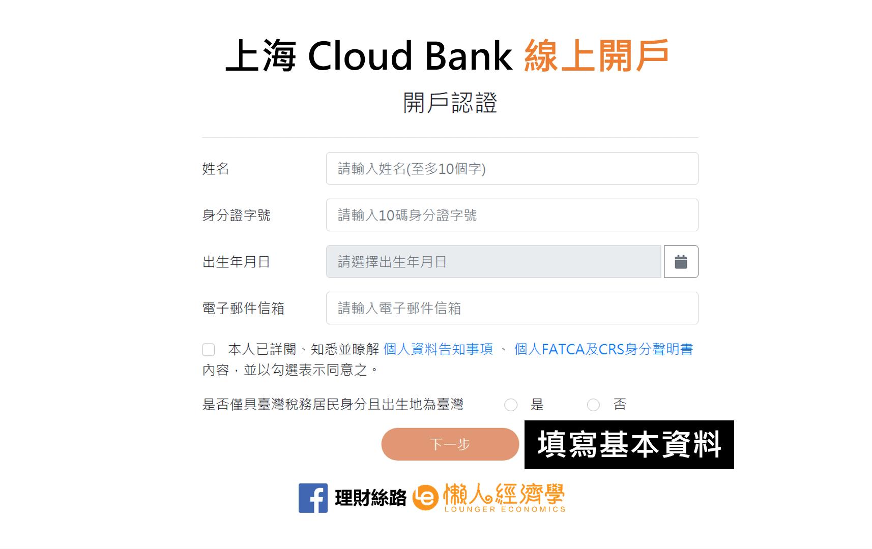 上海Cloud Bank開戶認證