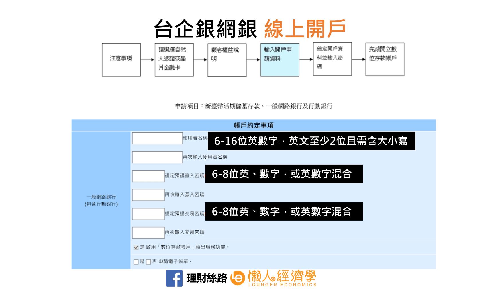 台企銀數位帳戶開戶教學-2