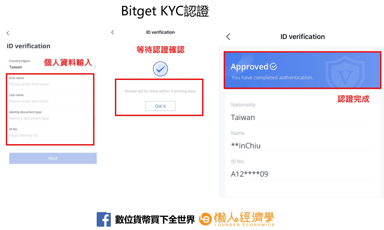 Bitget KYC認證.