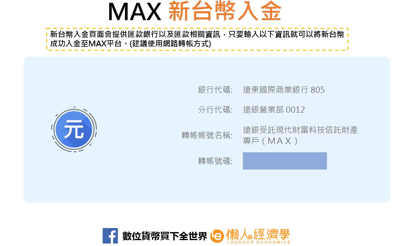 MAX新台幣入金2