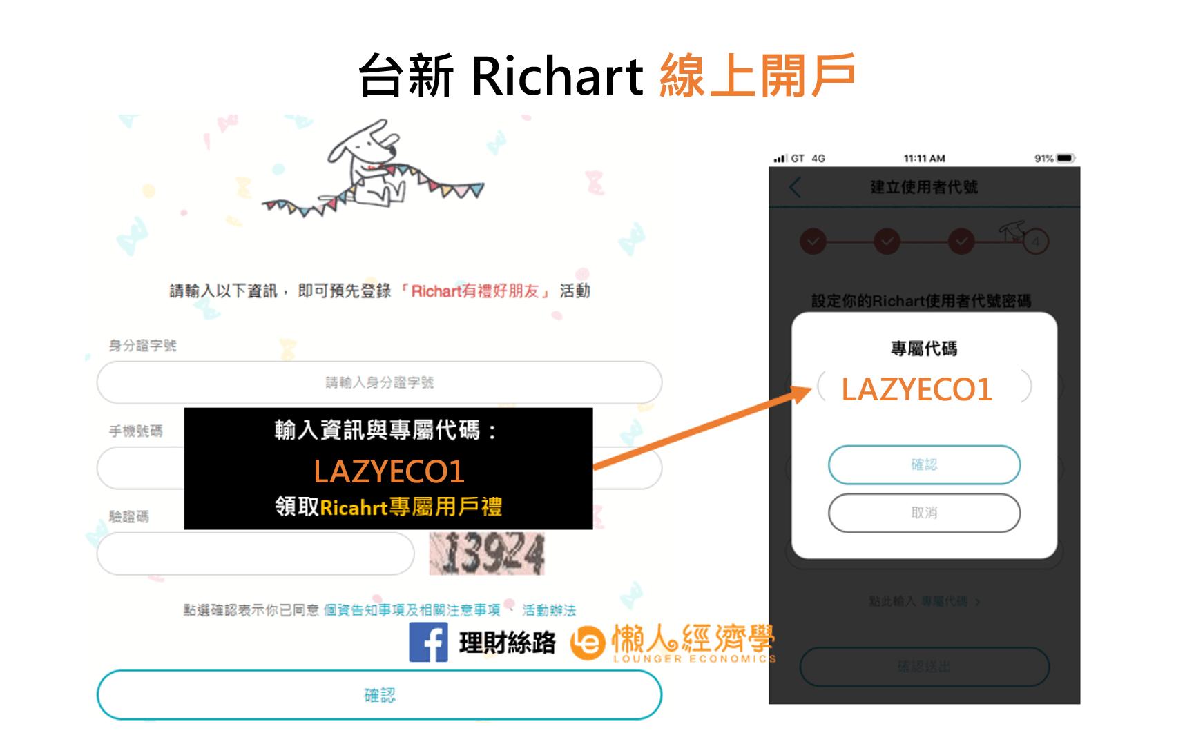 台新Richart好友登錄活動