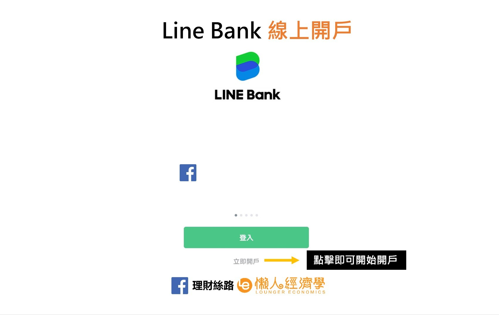 Line Bank登入頁面