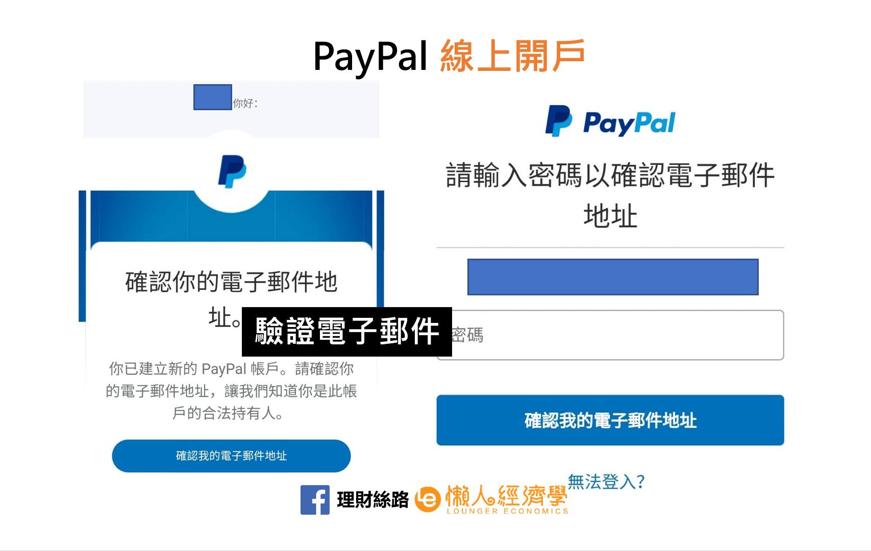 PayPal驗證電子郵件