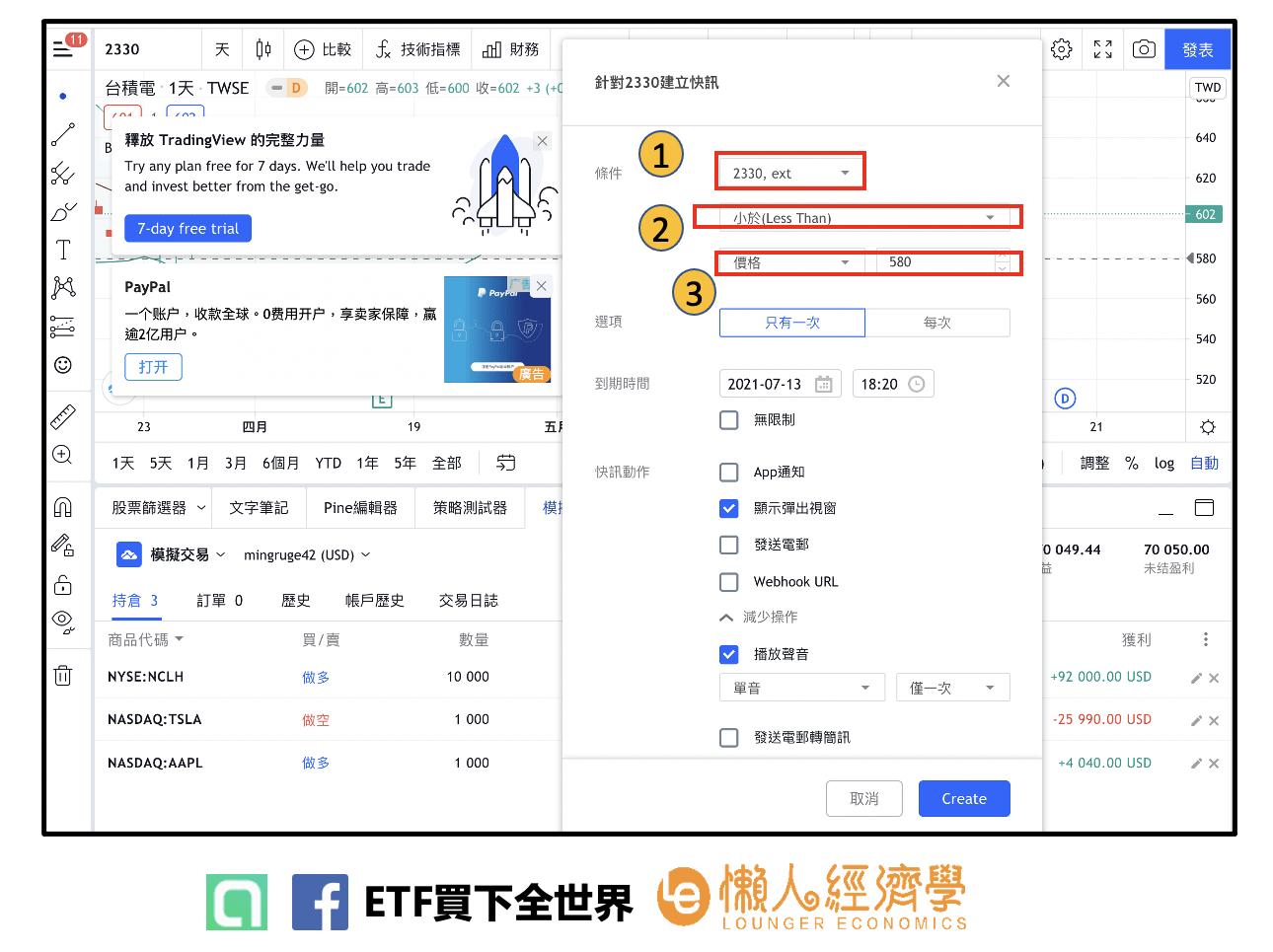 tradingview台股