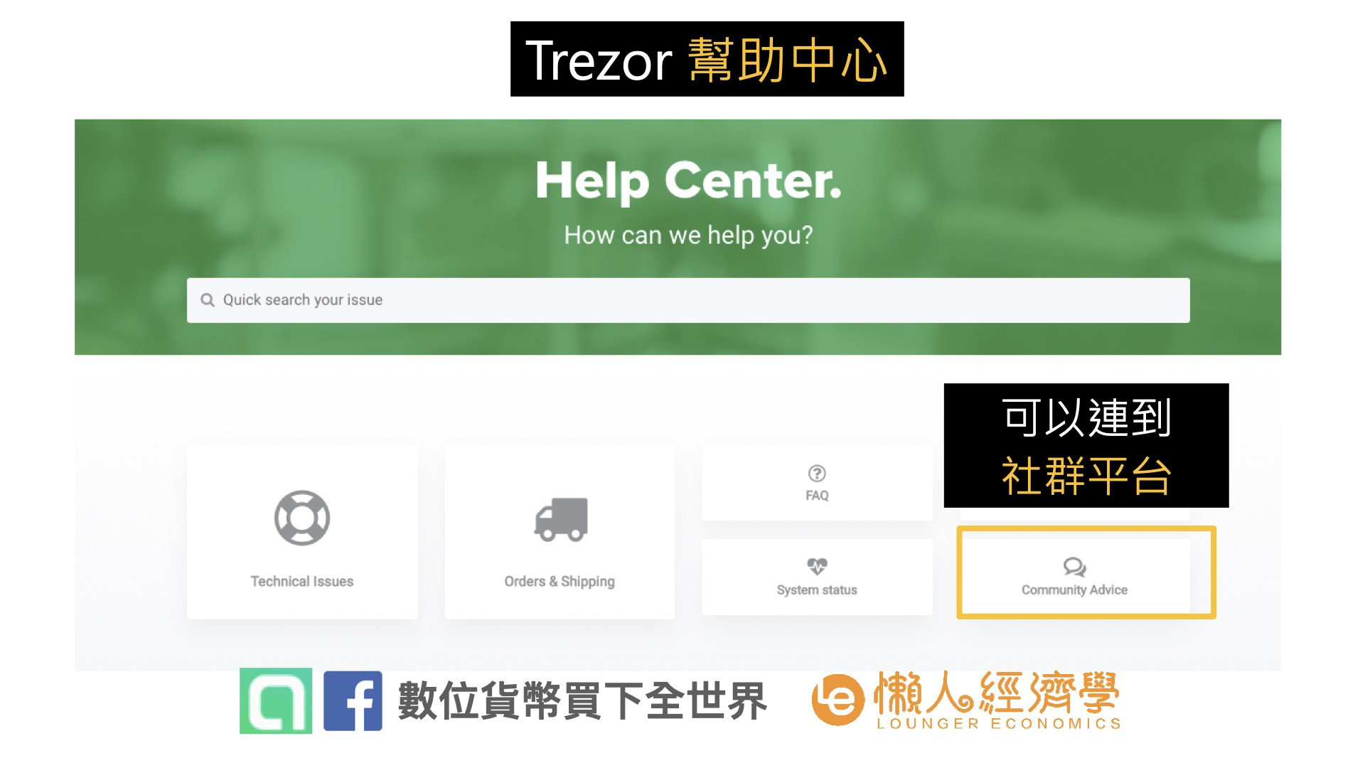Trezor 客服:Trezor幫助中心介面
