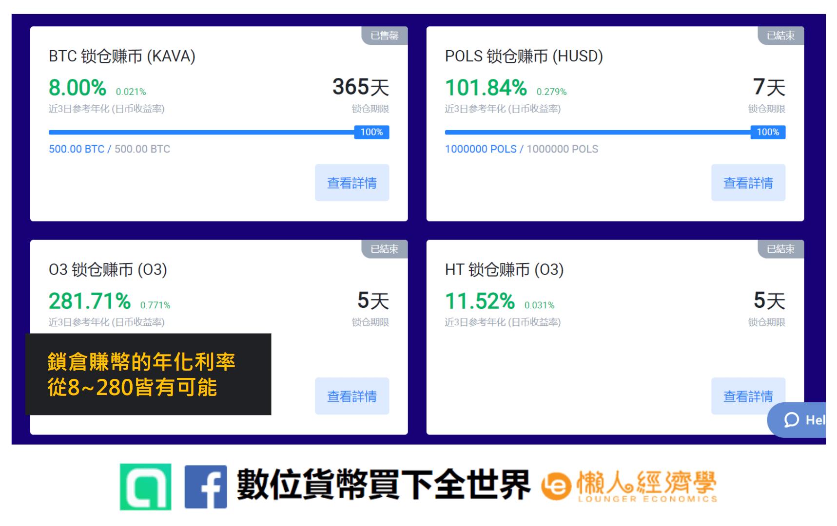 火幣網特色:huobi火幣網理財商品介紹,年化收益可達200%