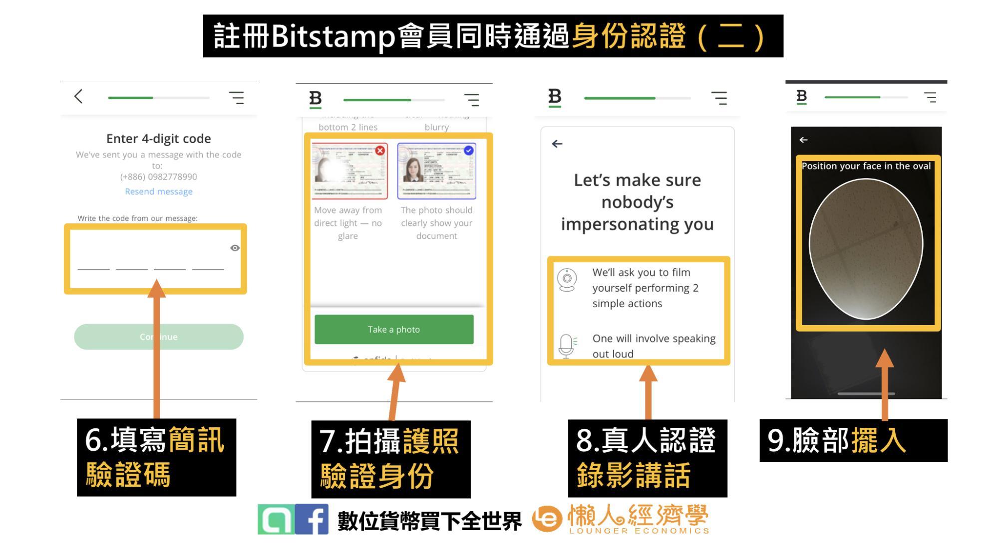 Bitstamp交易所註冊同時進行身份認證流程(二)