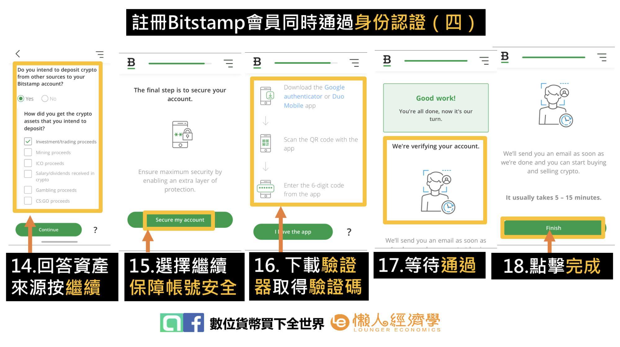 Bitstamp交易所註冊同時進行身份認證流程(四)