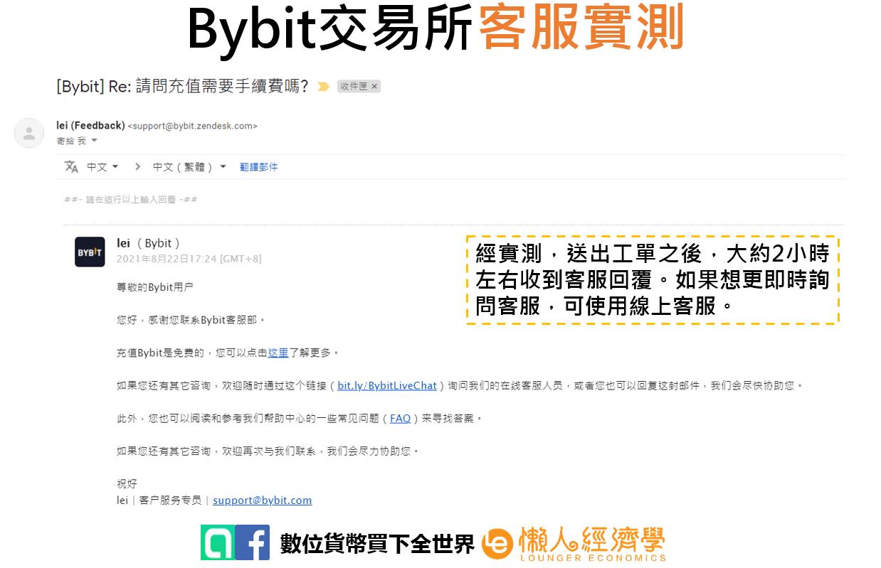 Bybit 客服實測2